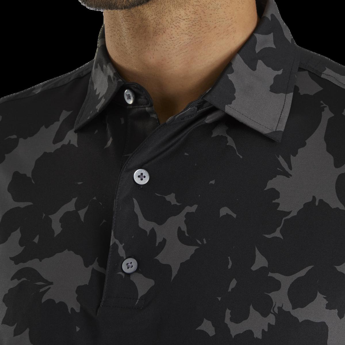 Lisle Camo Floral Print Self Collar