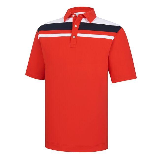 Lisle Color Block Chest Stripe Self Collar-Previous Season Style