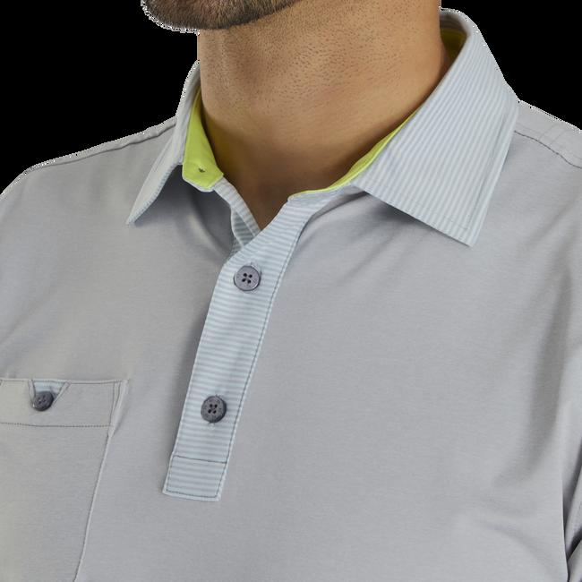 Lisle Solid W/ Pinstripe Trim Self Collar