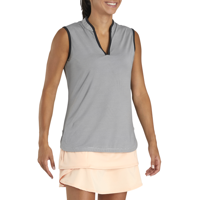 Lisle Micro Stripe Sleeveless Women-Previous Season Style