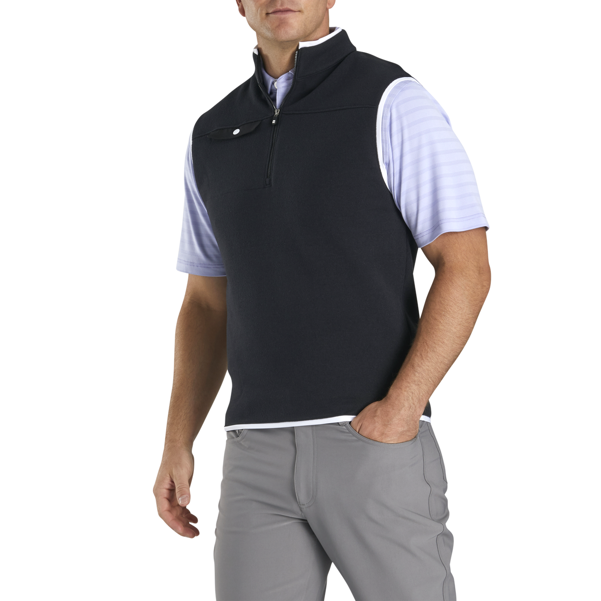 Sweater Fleece Quarter-Zip Vest-Previous Season Style