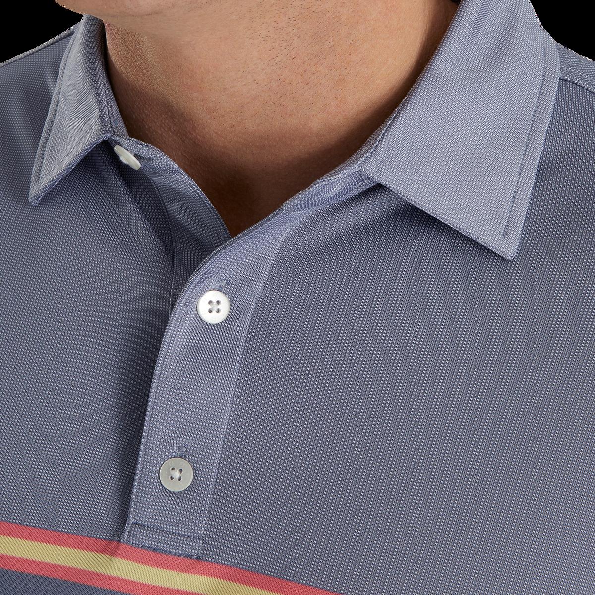 Jacquard Top Color Block Self Collar