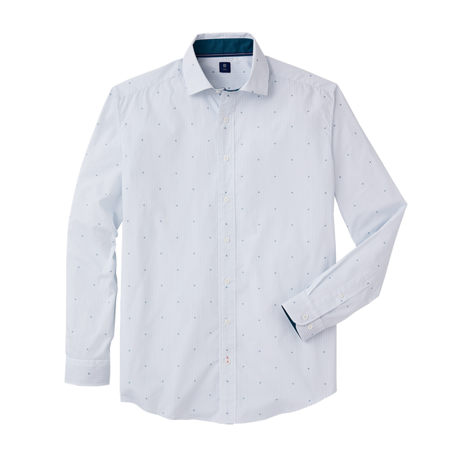 Stretch Cotton Woven Stripe Shirt