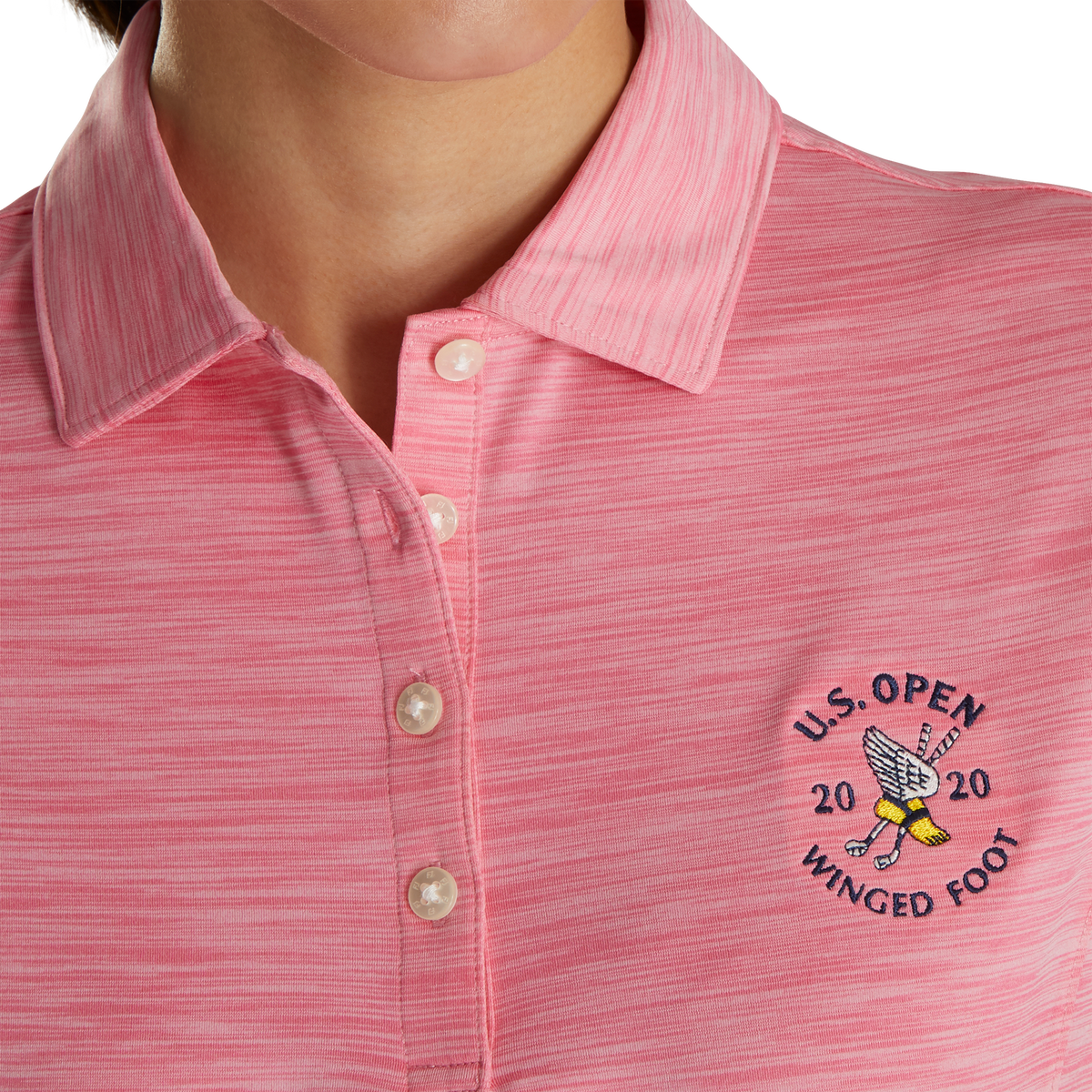 2020 U.S. Open ProDry Interlock Shirt Self Collar Women