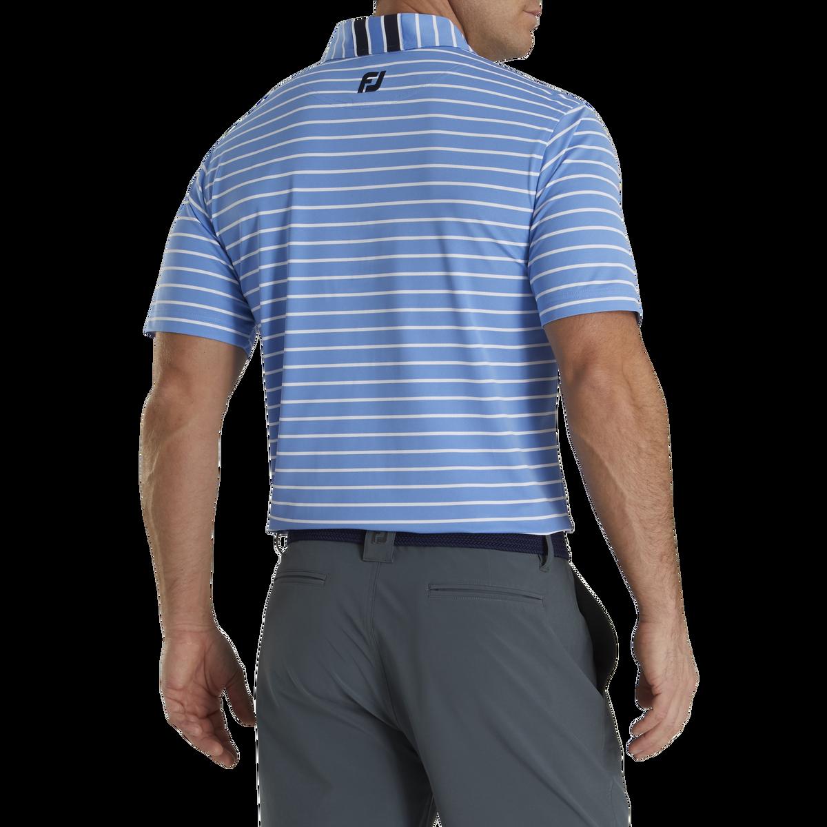 Pique Mixed Stripe Self Collar