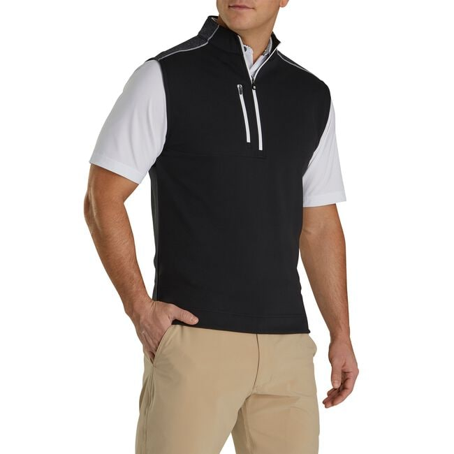 Half-Zip Heather Blocked Vest