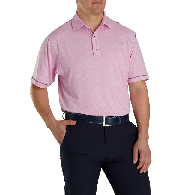 Lisle Space Dye Microstripe Self Collar