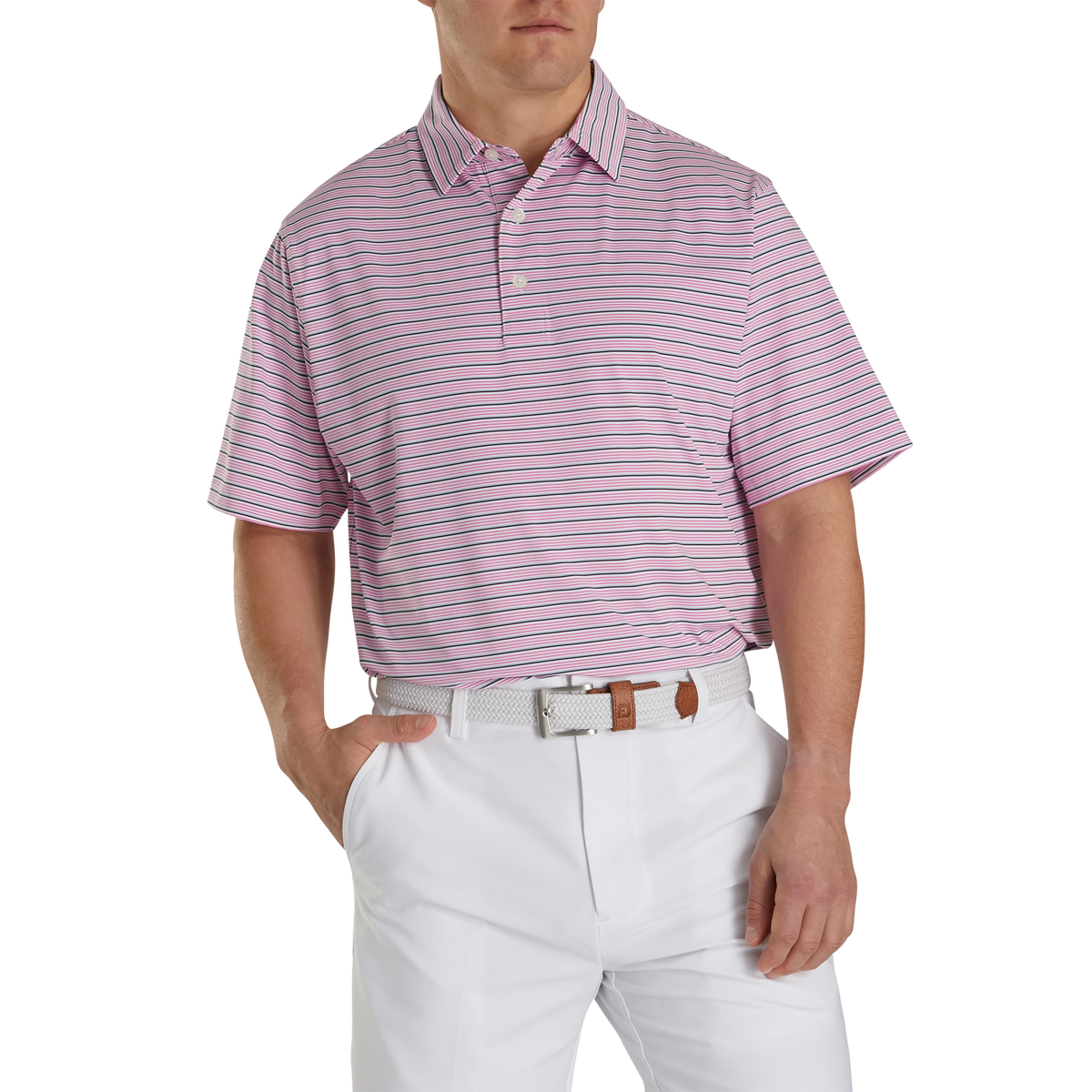 Lisle Multi Stripe Self Collar-Previous Season Style
