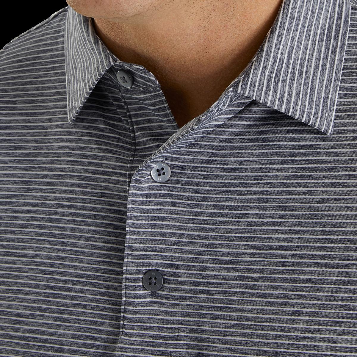 Heather Pinstripe Lisle Self Collar