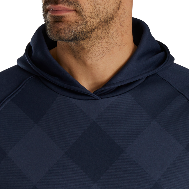 Tonal Plaid Fleece Pullover Hoodie