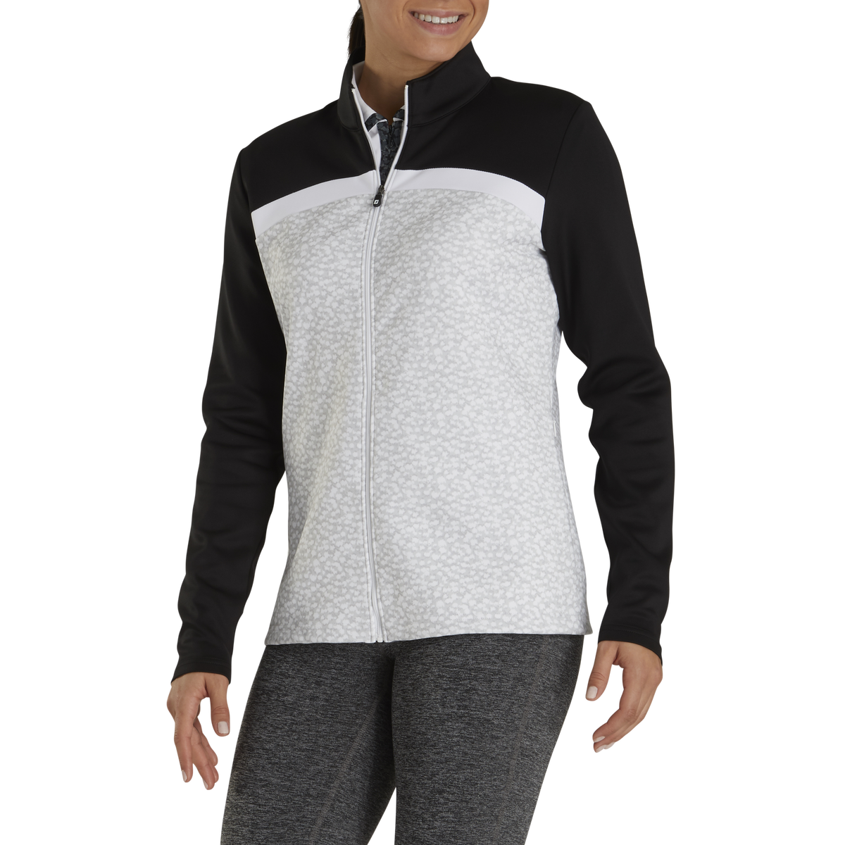 Full-Zip Double Jersey Blocked Mid-Layer Women