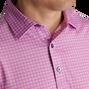 Lisle Plaid Print Self Collar