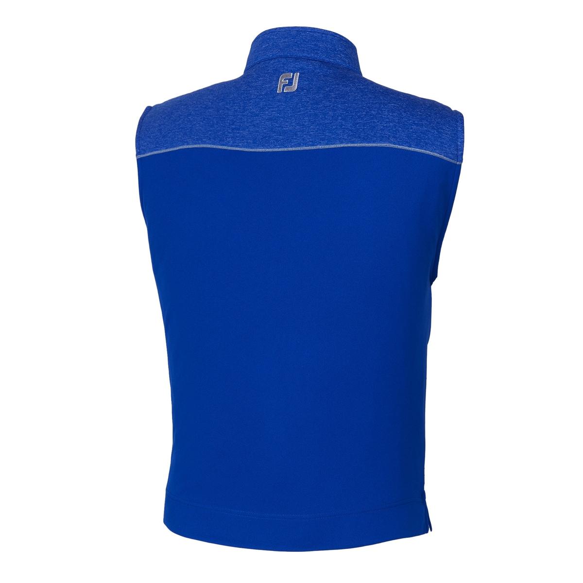 Half-Zip Heather Blocked Vest-Previous Season Style