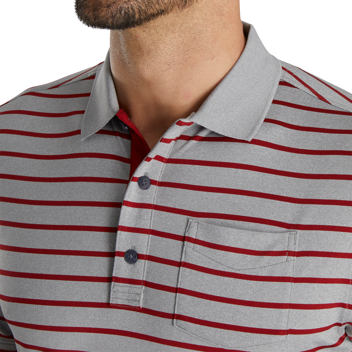 Nautical Stripe Lisle Self Collar