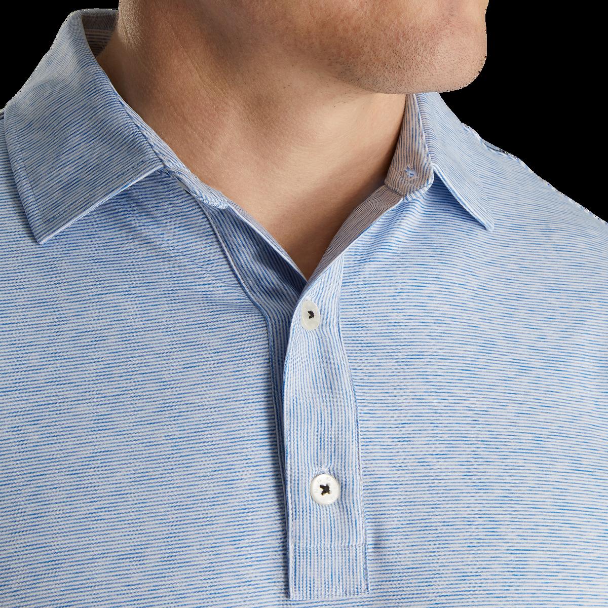Lisle Space Dye Microstripe Self Collar