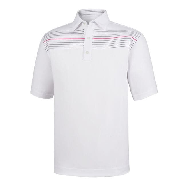 Athletic Fit Lisle Chest Pinstripe Self Collar