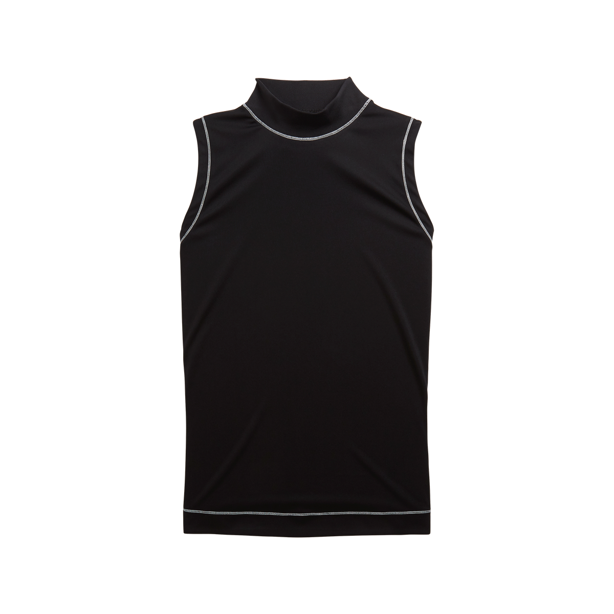 Micro Interlock Sleeveless Mock Women