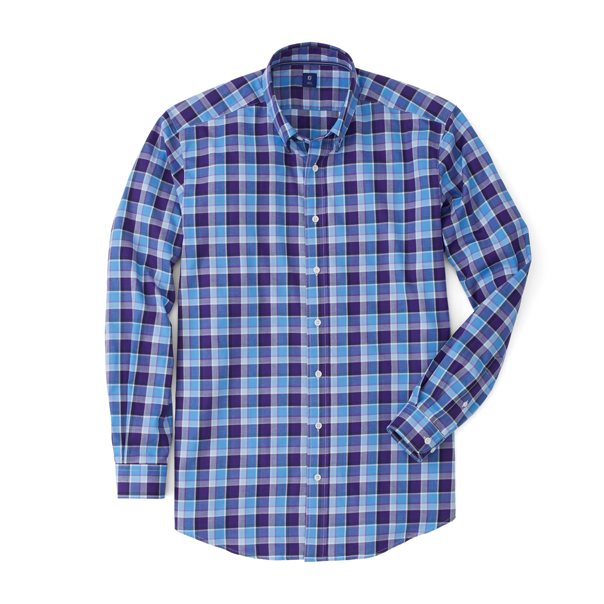 Stretch Twill Woven Multi Large Plaid Shirt