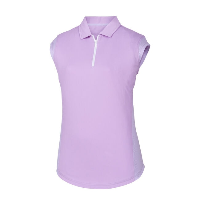 Cap Sleeve Interlock Microstripe Panel Women
