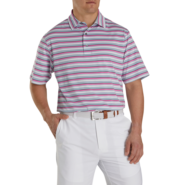 Lisle Multi Stripe Self Collar