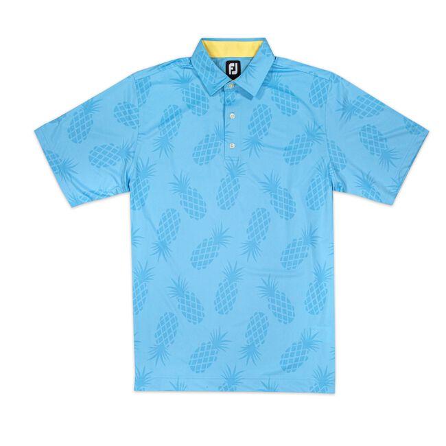 Lisle Pineapple Print Self Collar