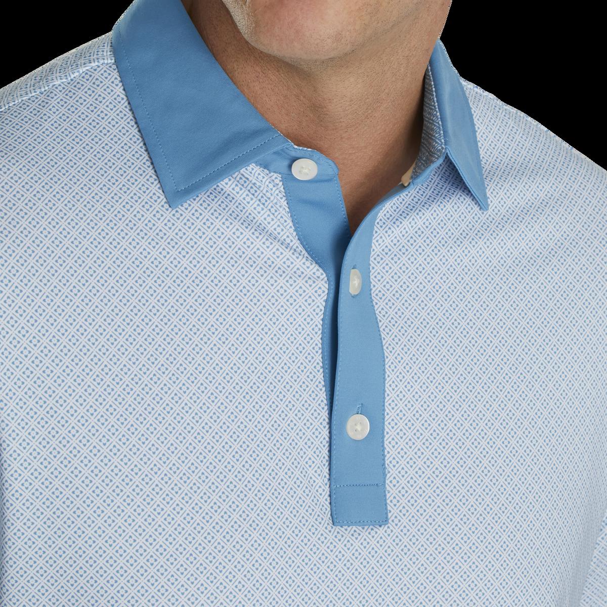 Lisle Foulard Print Self Collar