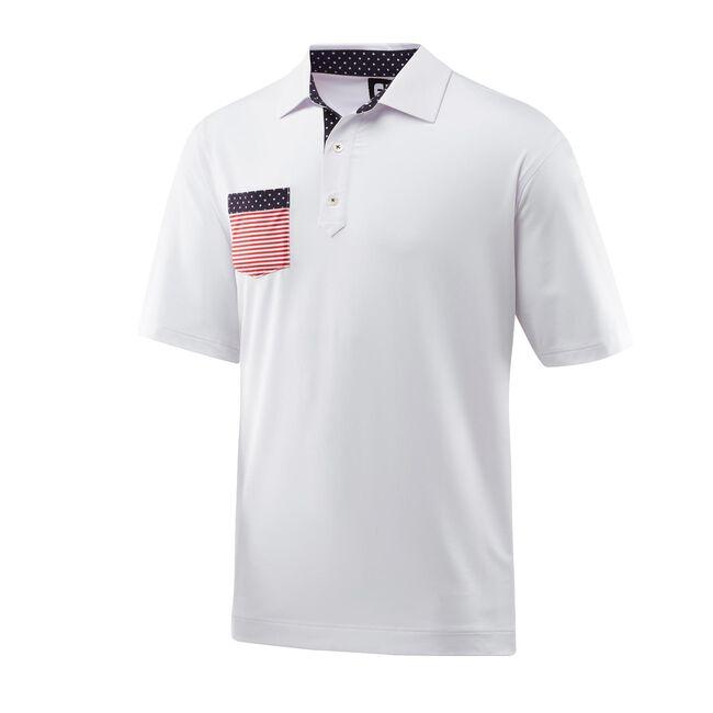 bbb931ba Solid Lisle Flag Chest Pocket Self Collar