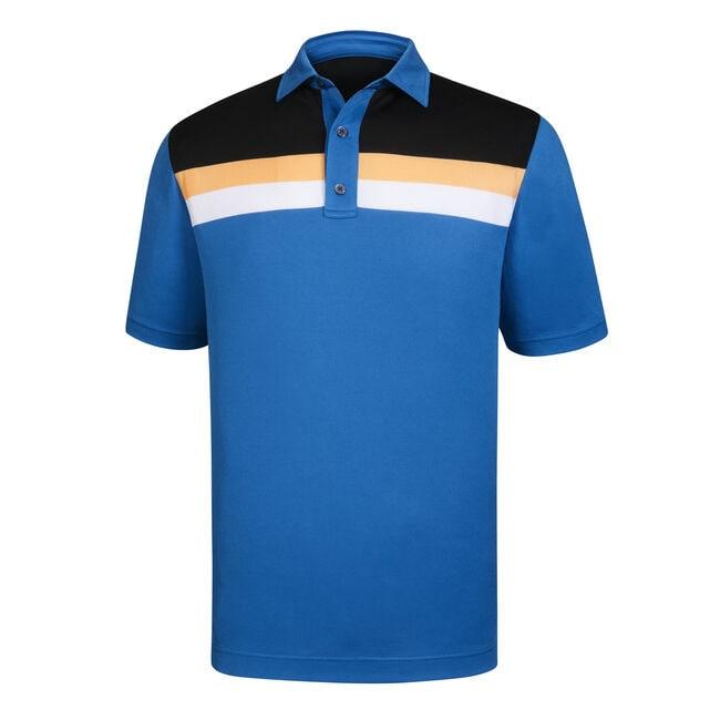 7d01b9aa610 Athletic Fit Pique Color Block + Stripes Self Collar-Previous Season Style