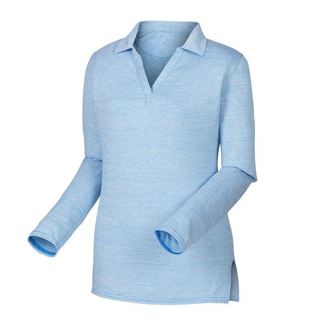 Space Dye Jersey Microstripe Shirt Women