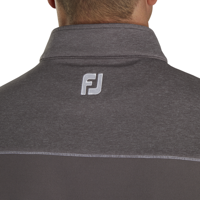 Half-Zip Heather Blocked Vest