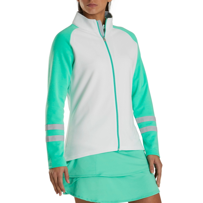 Full-Zip Raglan Color Block Mid-Layer Women