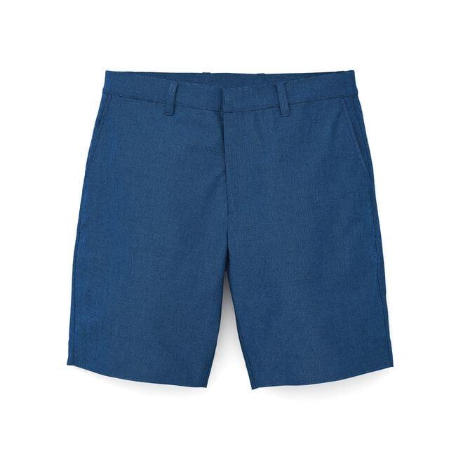 Stretch Cotton Chambray Shorts-Previous Season Style