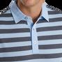 Stretch Pique Rugby Stripe Self Collar
