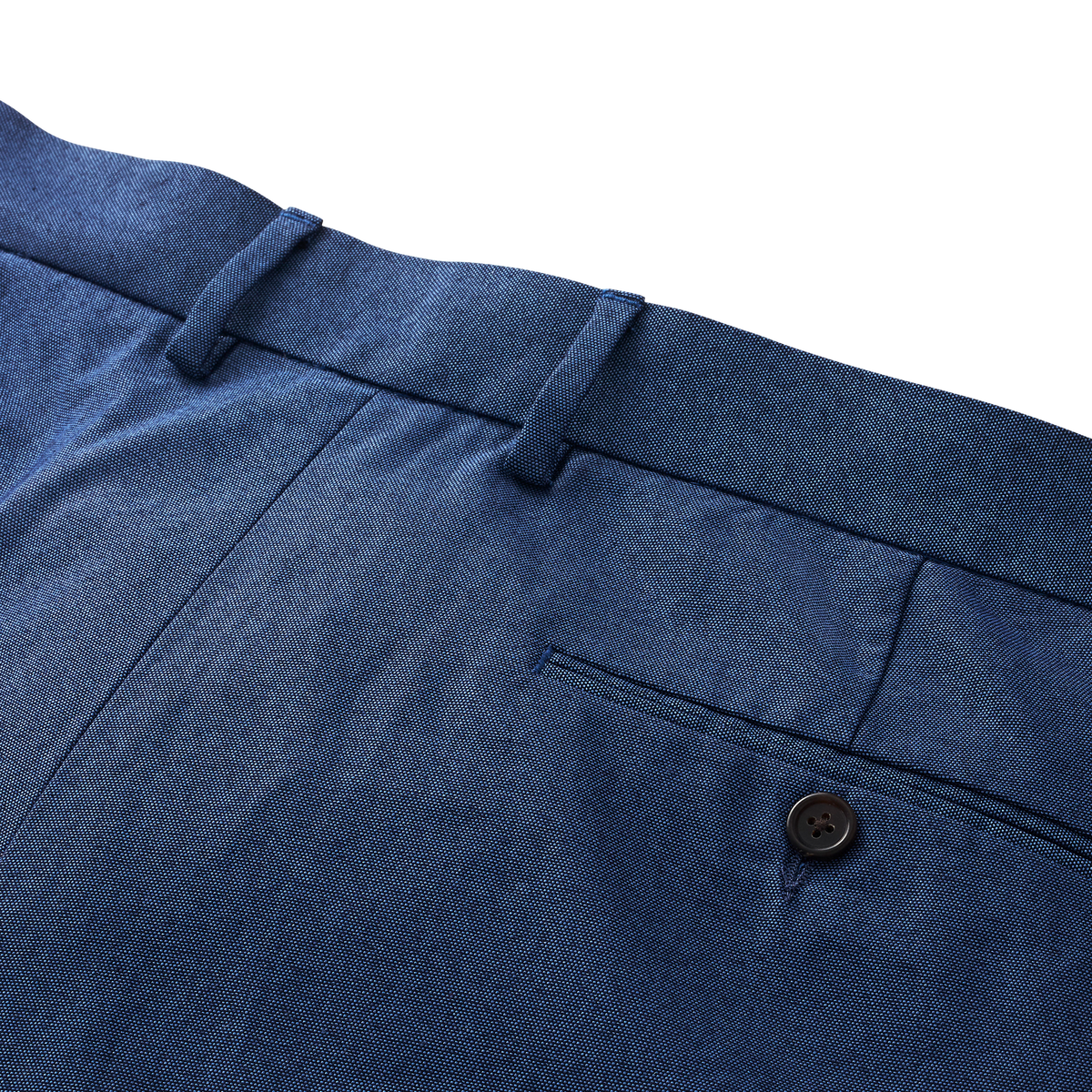 Stretch Cotton Chambray Pants