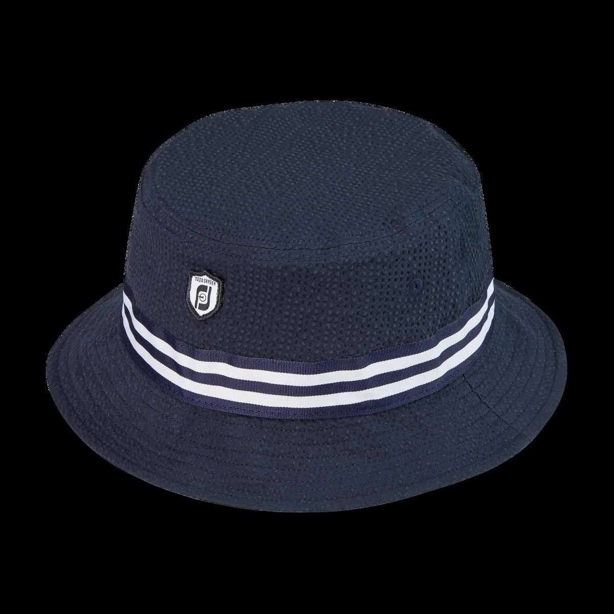 Seersucker Reversible Bucket Hat