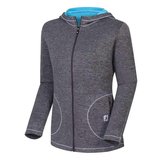 Double Layer Full-Zip Hoodie Women