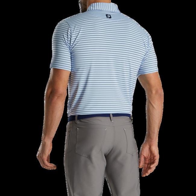 Athletic Fit Classic Stripe Self Collar