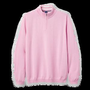 Cotton Cashmere Quarter-Zip Sweater -Previous Season Style