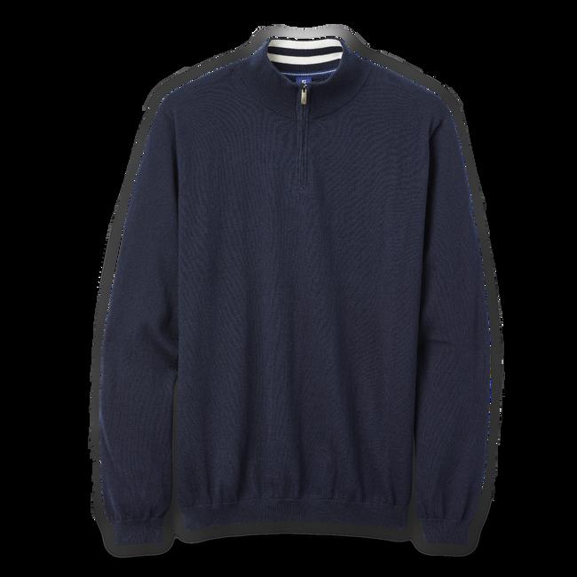 Cotton Cashmere Quarter-Zip Sweater