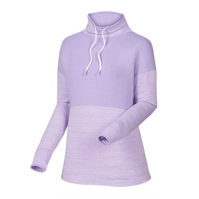 Pieced Funnel Collar Mid Layer Women