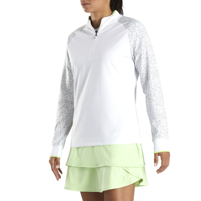 Quarter-Zip Twill Back Jersey Women