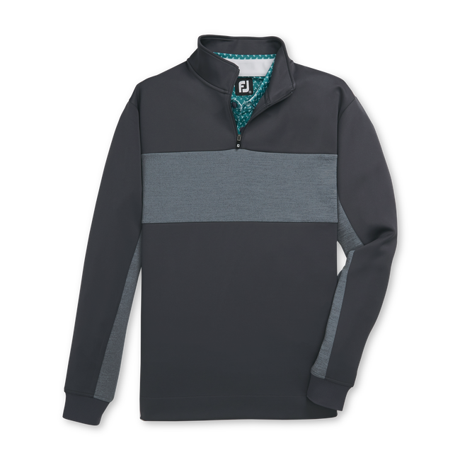 Double Jersey Pieced Quarter-Zip-Previous Season Style