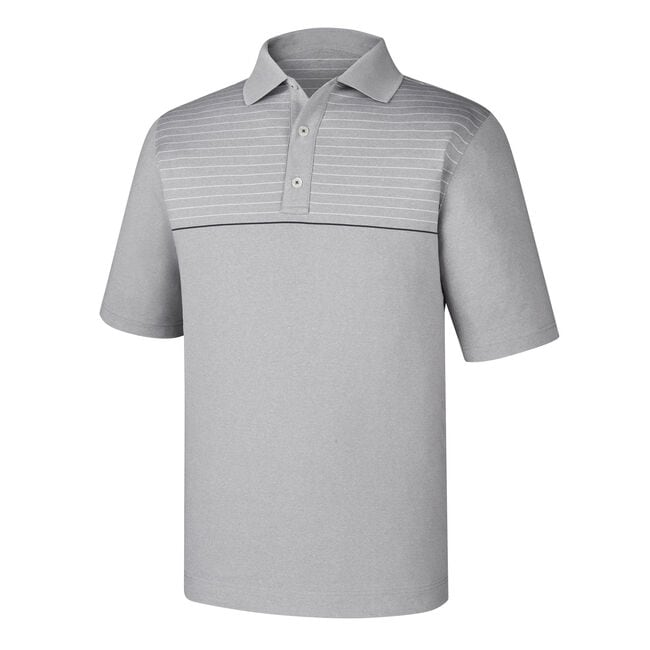 Athletic Fit Lisle Engineered Pinstripe Knit Collar-Previous Season Style