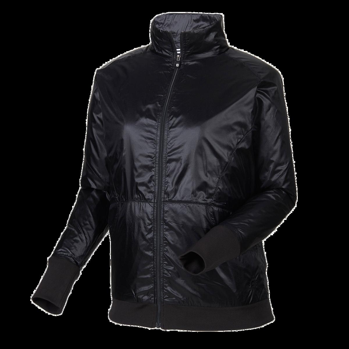 Full-Zip Knit Trim Jacket Women-Previous Season Style