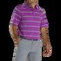Lisle Pique Open Stripe Self Collar