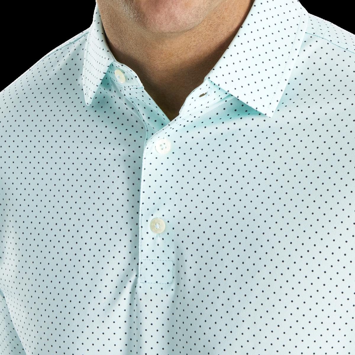 Stretch Lisle Dot Print Self Collar