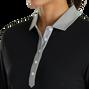 Baby Pique 3/4 Sleeve+Contrast Trim Women
