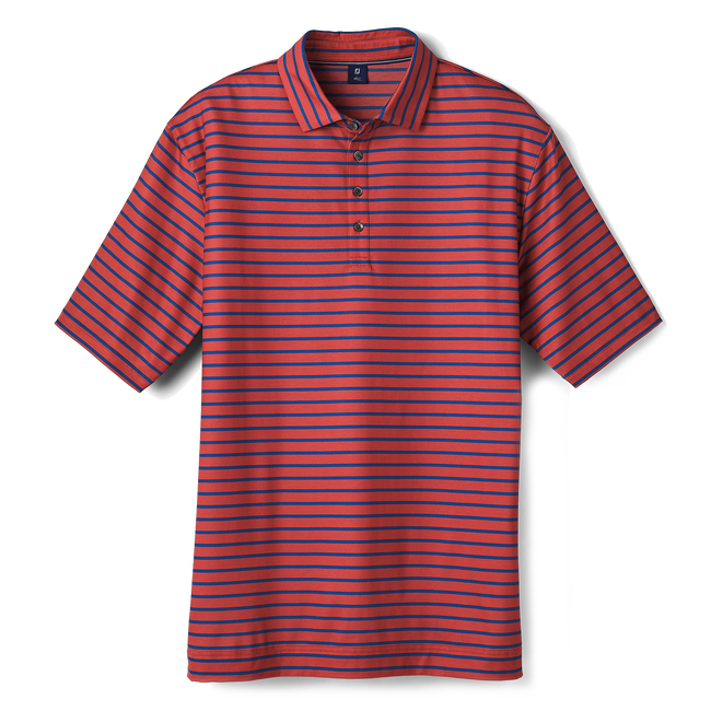 Pima Lisle Stripe Spread Collar
