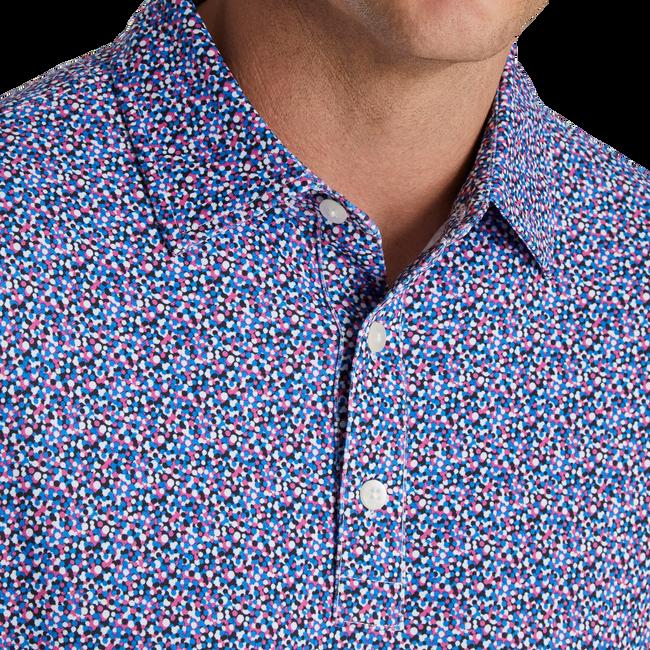 Confetti Print Pique Self Collar