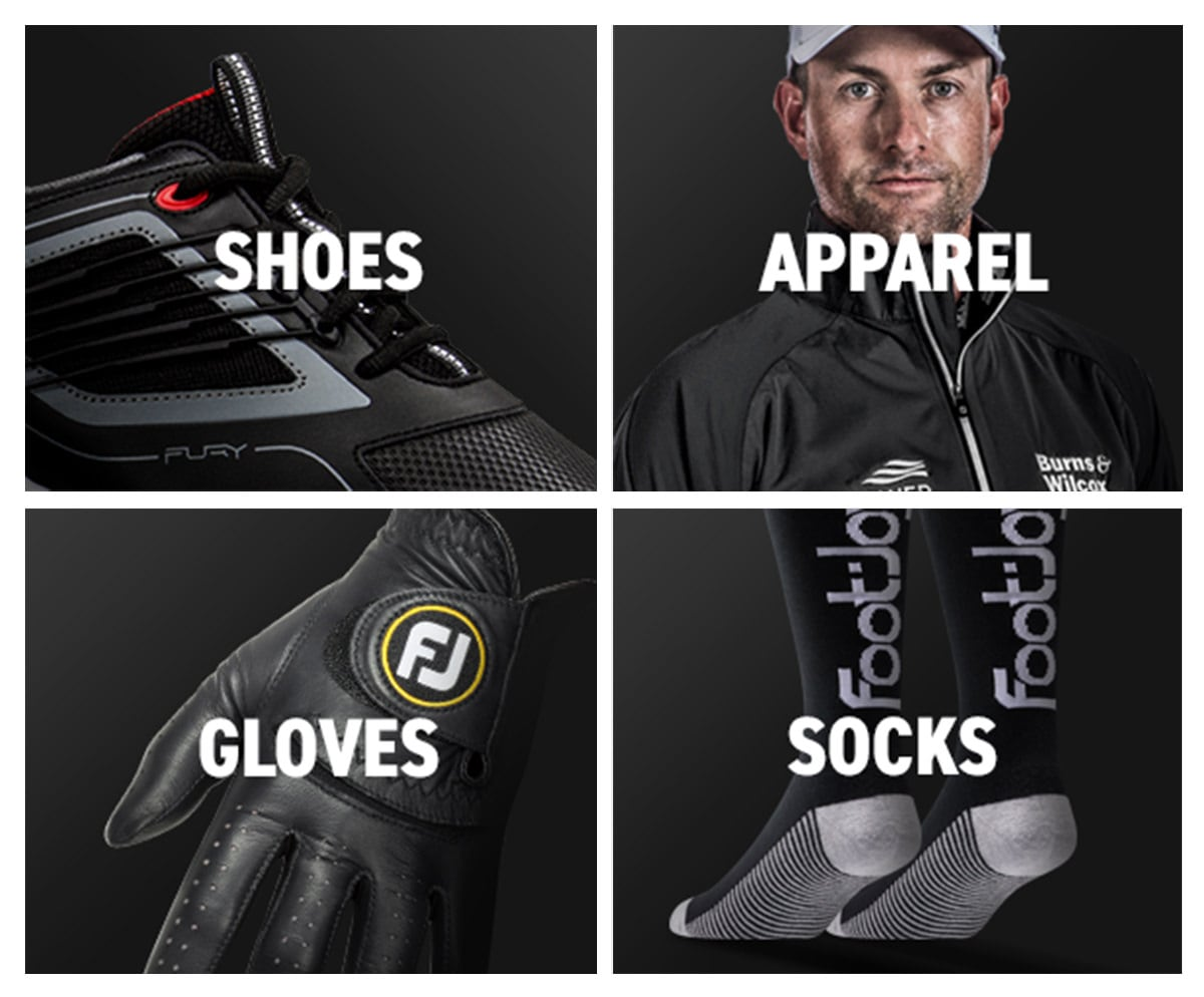 FootJoy FJ Blackout Golf Shoes, Apparel, Socks, Gloves, and Gear